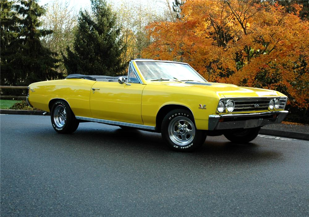 1967 CHEVROLET CHEVELLE SS CONVERTIBLE 427 RE-CREATION - Front 3/4 - 71270