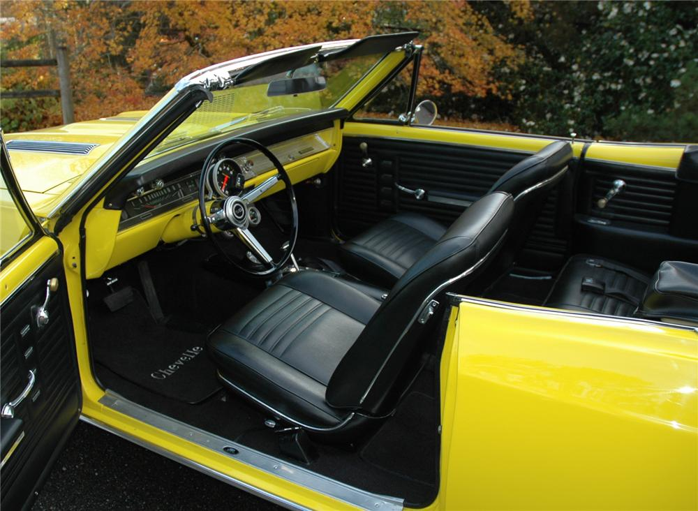 1967 CHEVROLET CHEVELLE SS CONVERTIBLE 427 RE-CREATION - Interior - 71270