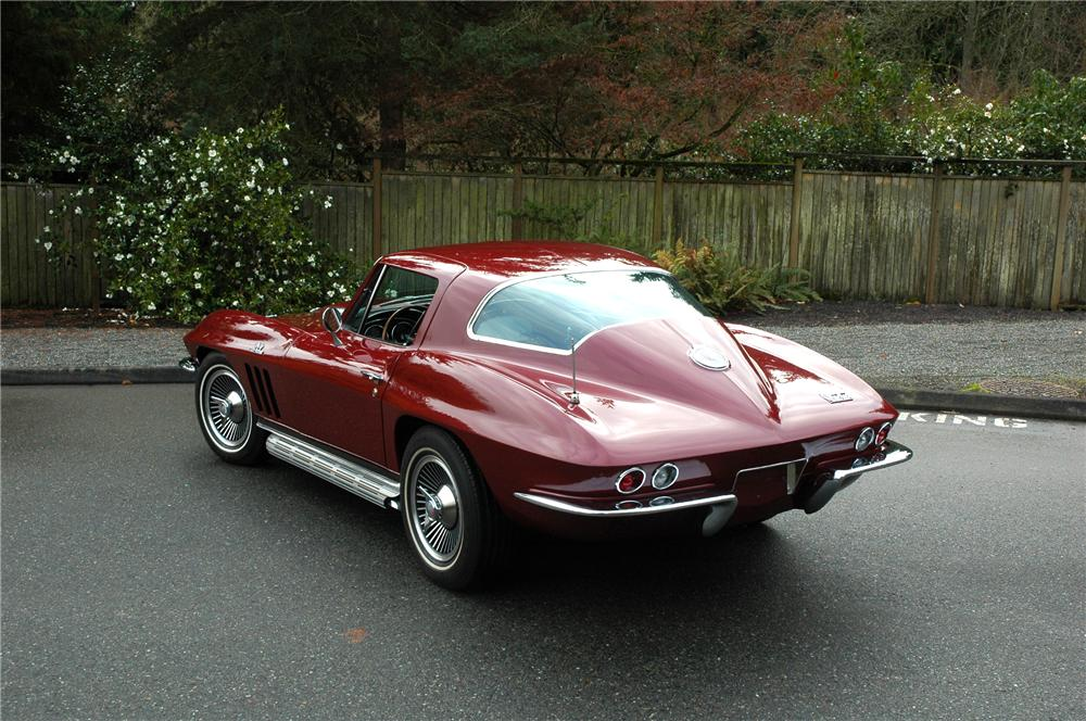 1966 CHEVROLET CORVETTE COUPE - Rear 3/4 - 71276