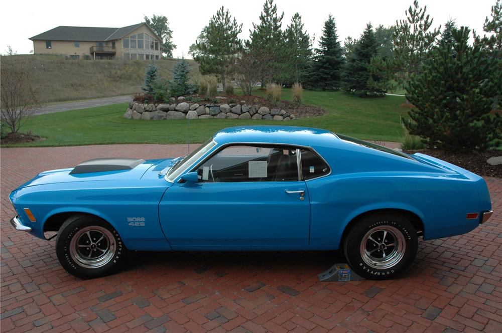 1970 FORD MUSTANG BOSS 429 FASTBACK - Side Profile - 71380