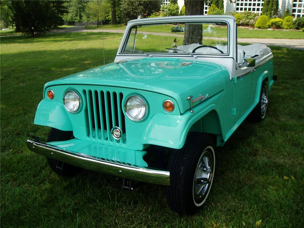 "1967 JEEP JEEPSTER COMMANDO CONVERTIBLE ""ALAN JACKSONS"" - Front 3/4 - 71404"