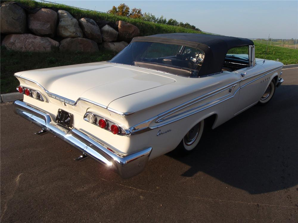 1959 EDSEL CORSAIR CONVERTIBLE - Rear 3/4 - 71419