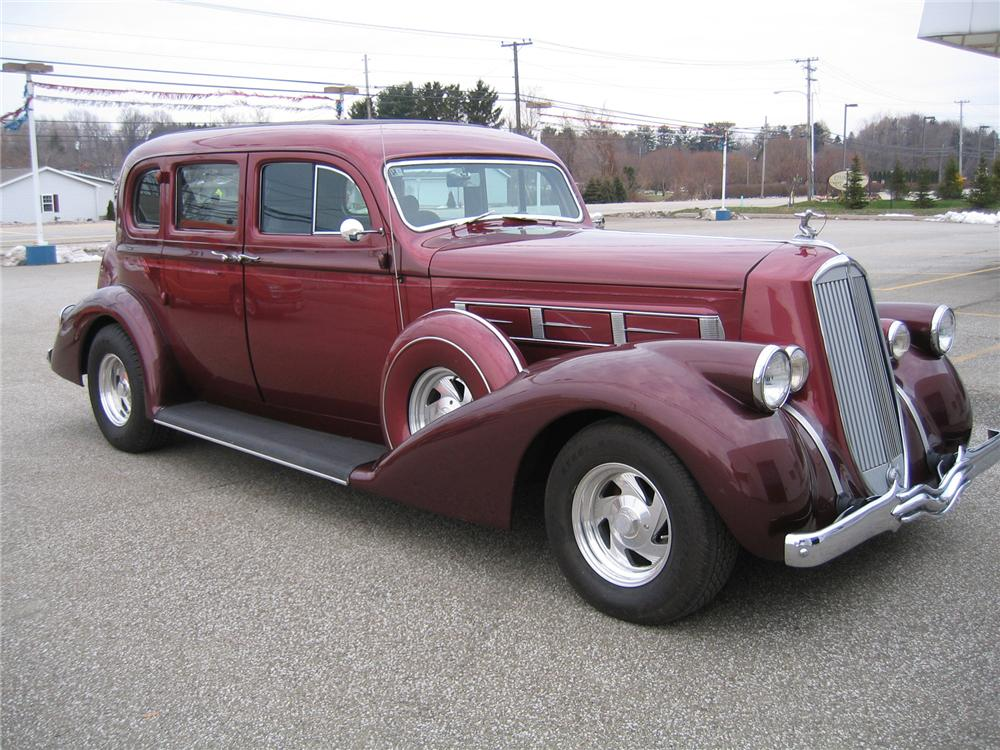 1936 PIERCE-ARROW CUSTOM SEDAN - Side Profile - 71540