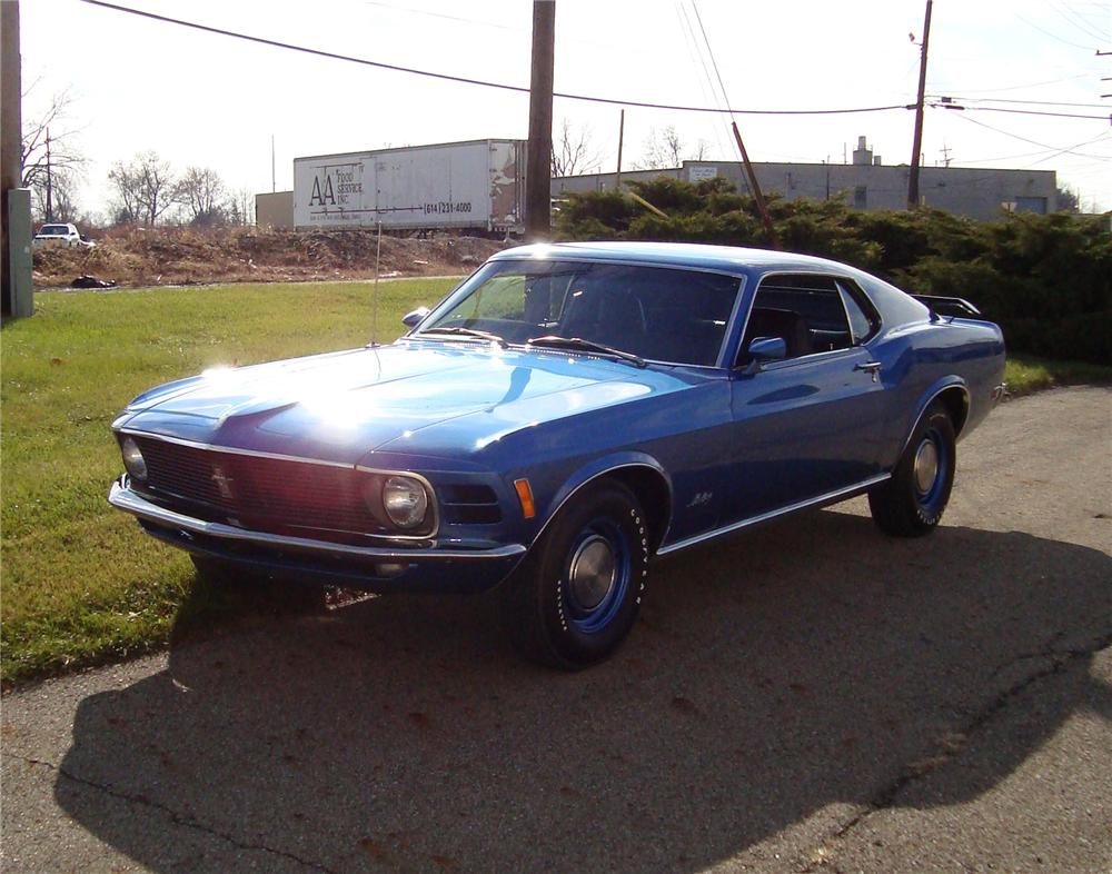 1970 FORD MUSTANG 428 SCJ FASTBACK - Front 3/4 - 71543
