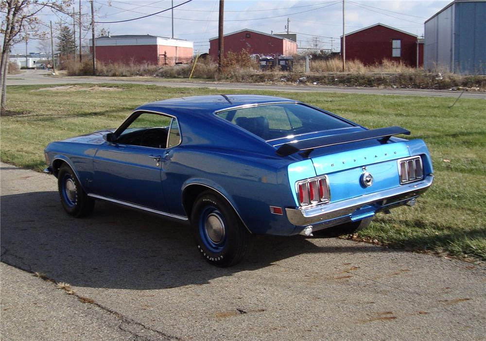 1970 FORD MUSTANG 428 SCJ FASTBACK - Rear 3/4 - 71543