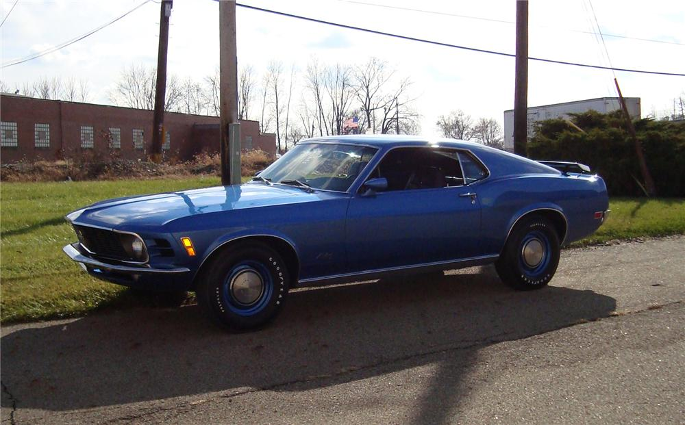 1970 FORD MUSTANG 428 SCJ FASTBACK - Side Profile - 71543