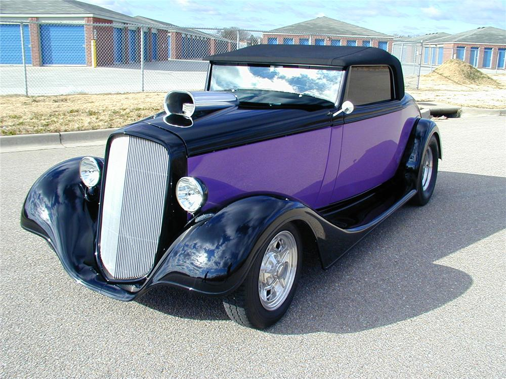 1934 CHEVROLET HOT ROD CABRIOLET - Front 3/4 - 71556
