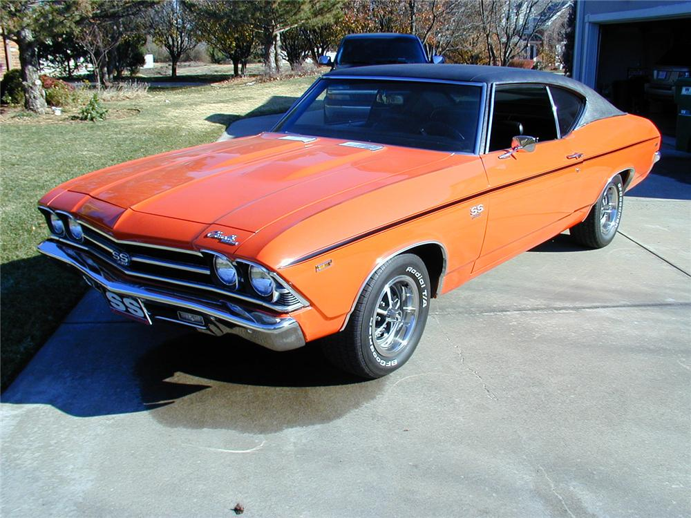 1969 CHEVROLET CHEVELLE COUPE - Front 3/4 - 71557