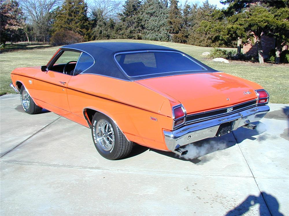 1969 CHEVROLET CHEVELLE COUPE - Rear 3/4 - 71557