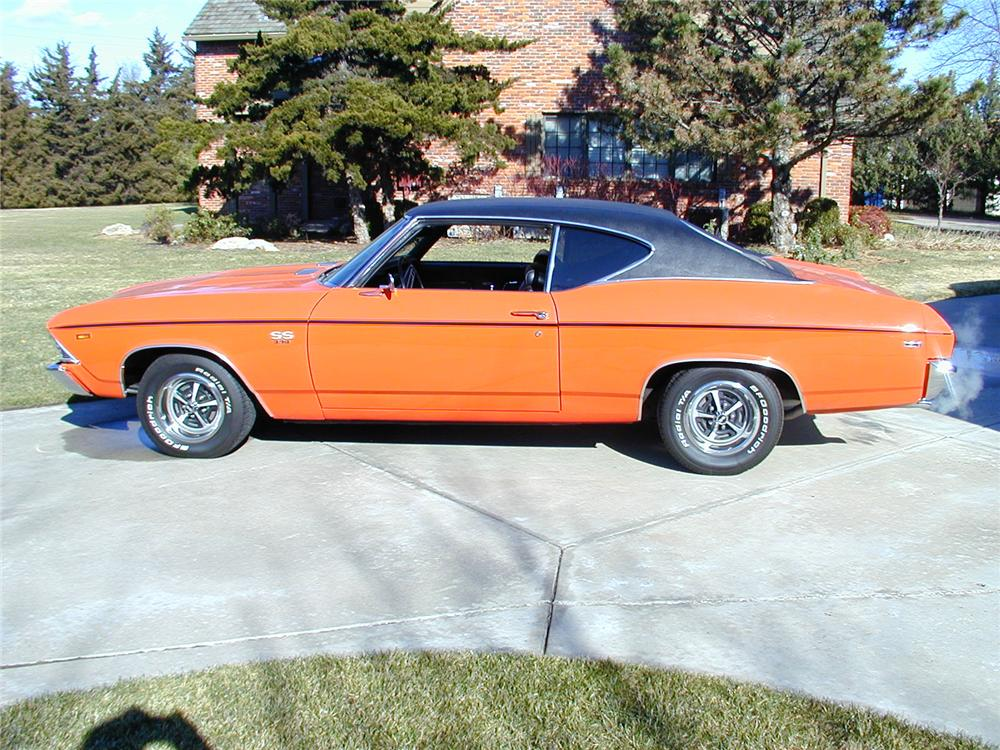 1969 CHEVROLET CHEVELLE COUPE - Side Profile - 71557
