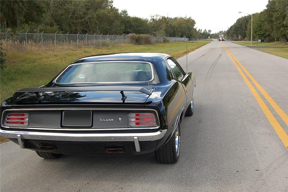 1970 PLYMOUTH CUDA COUPE - Rear 3/4 - 71558