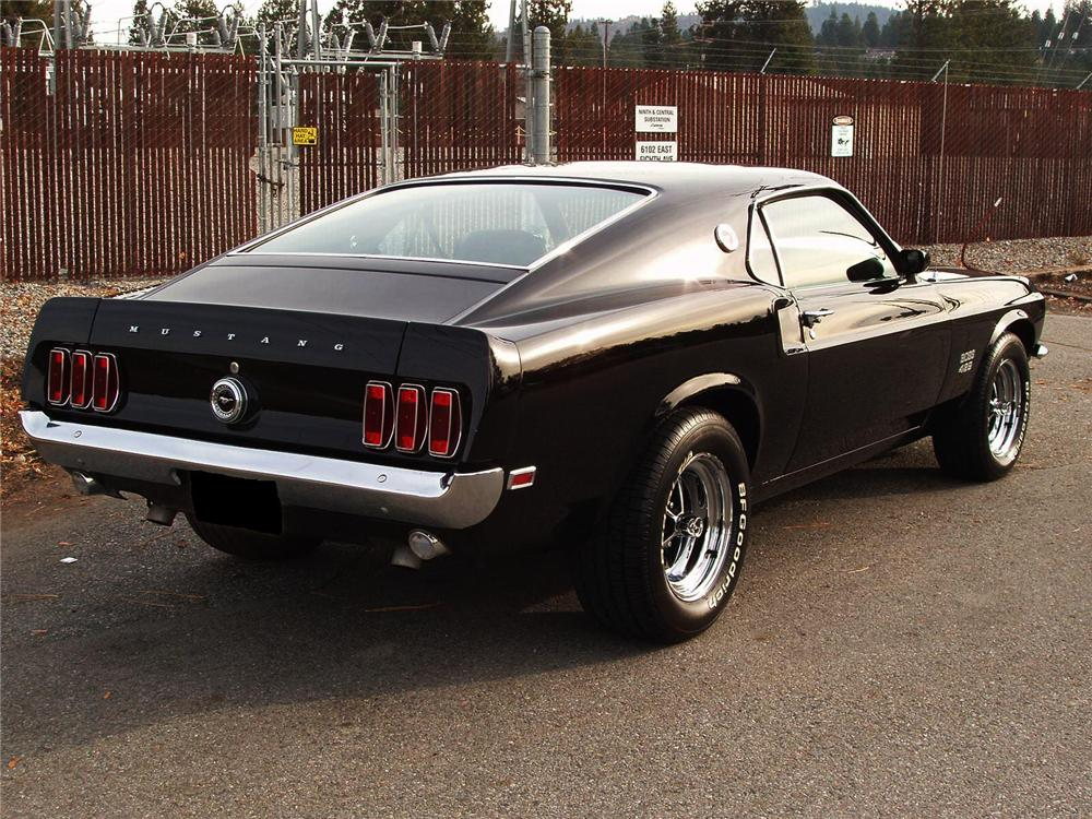 1969 FORD MUSTANG BOSS 429 CUSTOM FASTBACK - Rear 3/4 - 71567