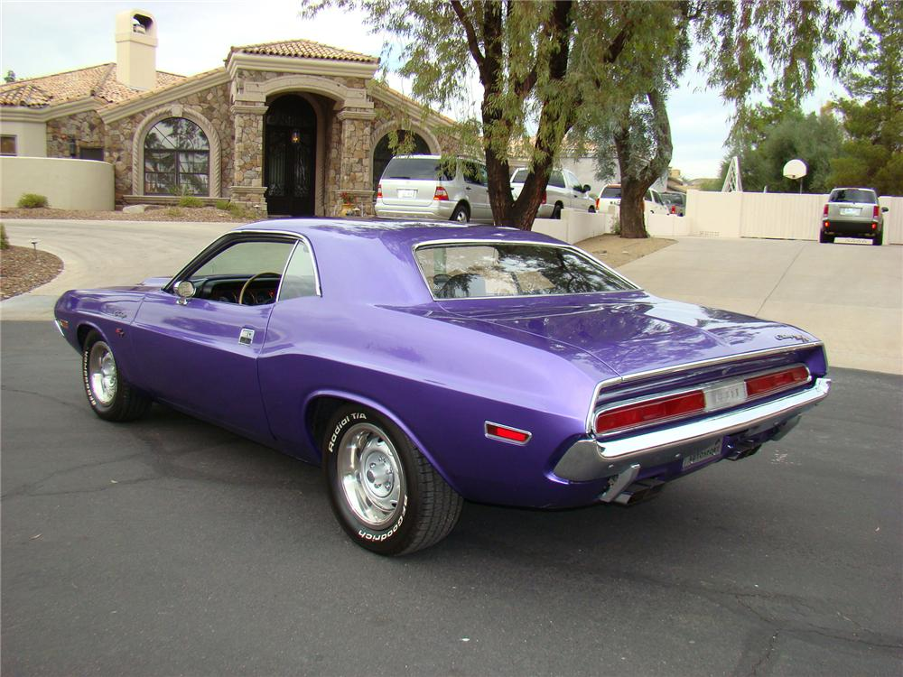 1970 DODGE CHALLENGER COUPE - Rear 3/4 - 71571