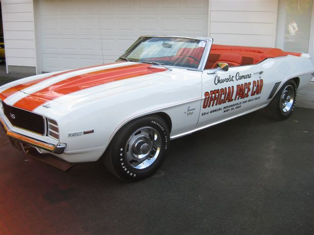 1969 CHEVROLET CAMARO INDY PACE CAR RS/SS CONVERTIBLE - Front 3/4 - 71615