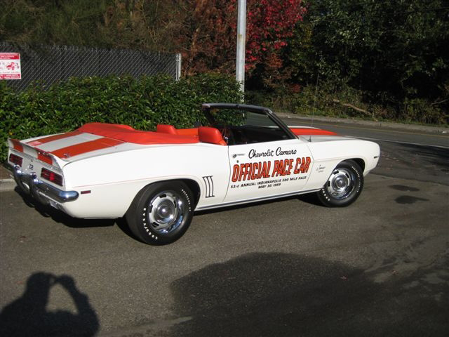 1969 CHEVROLET CAMARO INDY PACE CAR RS/SS CONVERTIBLE - Rear 3/4 - 71615