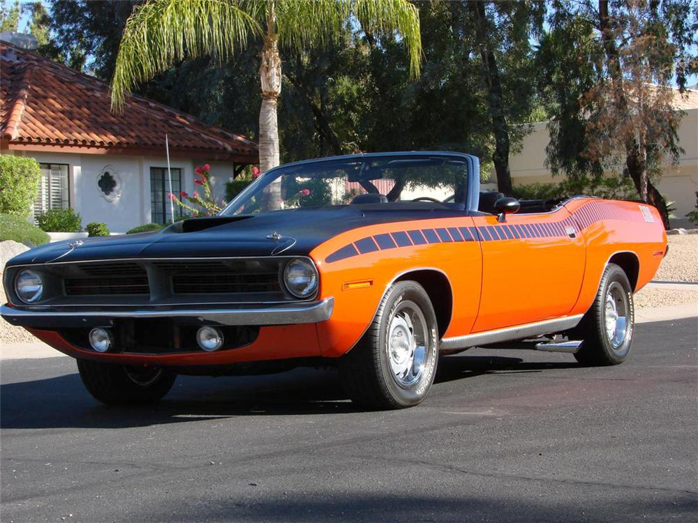1970 PLYMOUTH CUDA AAR CONVERTIBLE RE-CREATION - Front 3/4 - 71637