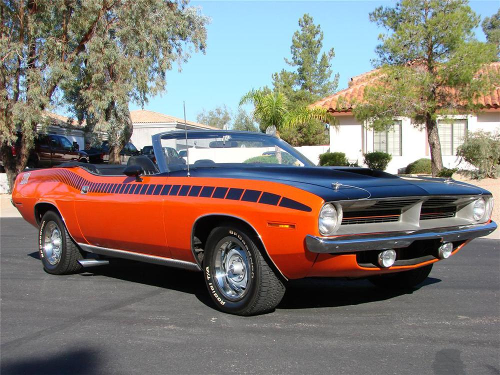 1970 PLYMOUTH CUDA AAR CONVERTIBLE RE-CREATION - Side Profile - 71637