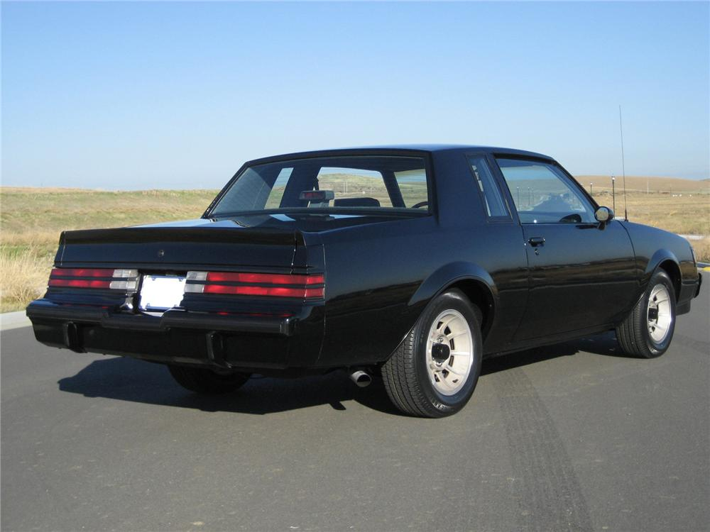 1987 BUICK WE4 REGAL COUPE - Rear 3/4 - 71645