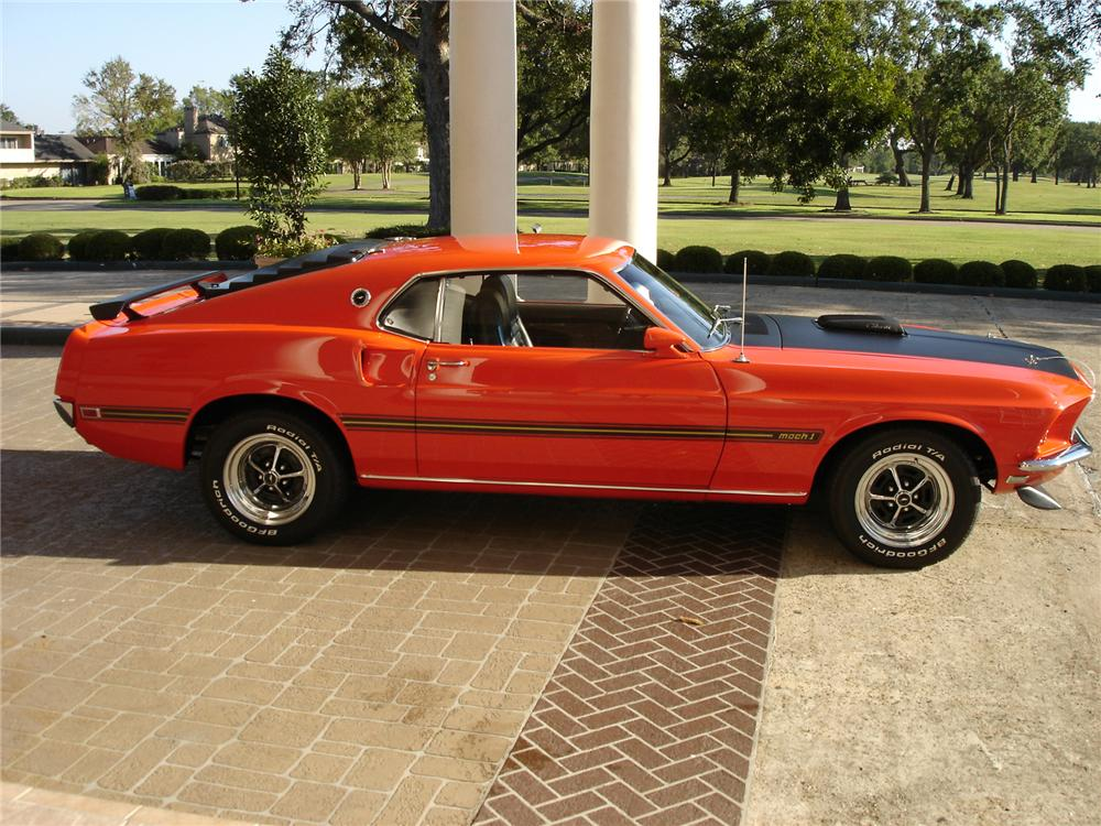 1969 FORD MUSTANG MACH 1 FASTBACK - Side Profile - 71647