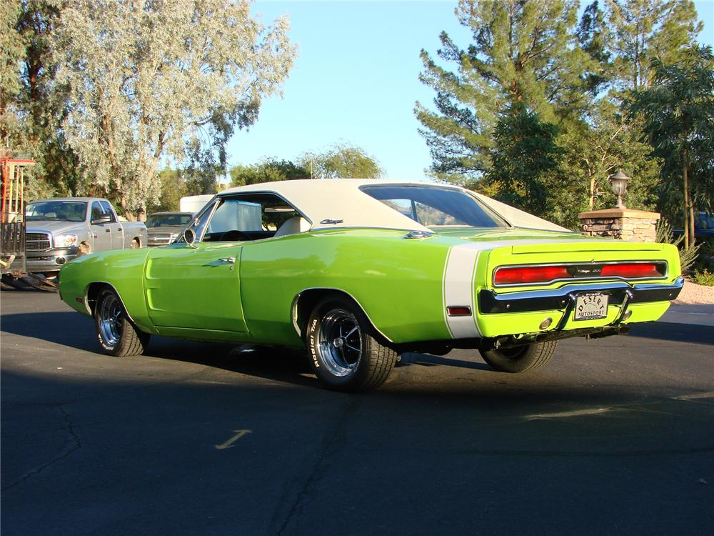 1970 DODGE CHARGER 2 DOOR COUPE - Rear 3/4 - 71648