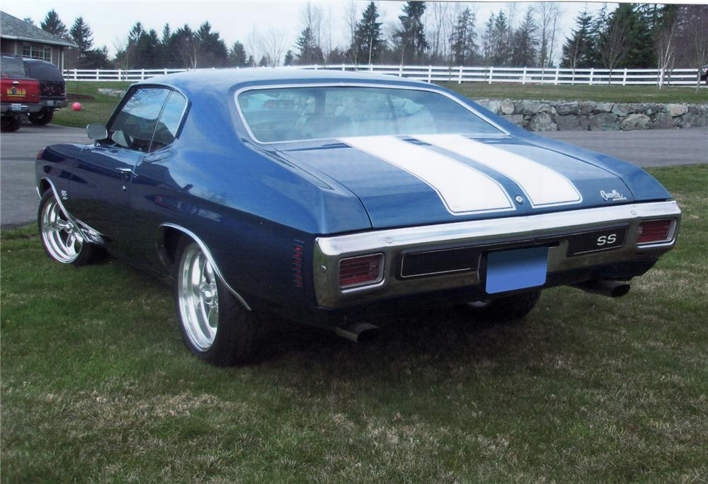 1970 CHEVROLET CHEVELLE SS 396 SPORT COUPE - Rear 3/4 - 71655