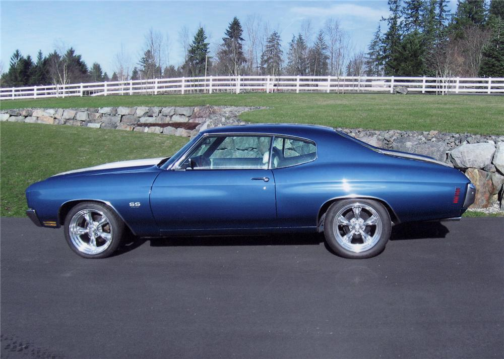 1970 CHEVROLET CHEVELLE SS 396 SPORT COUPE - Side Profile - 71655
