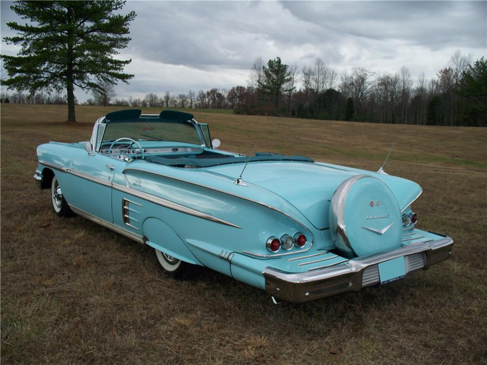 1958 CHEVROLET IMPALA CONVERTIBLE - Rear 3/4 - 71663