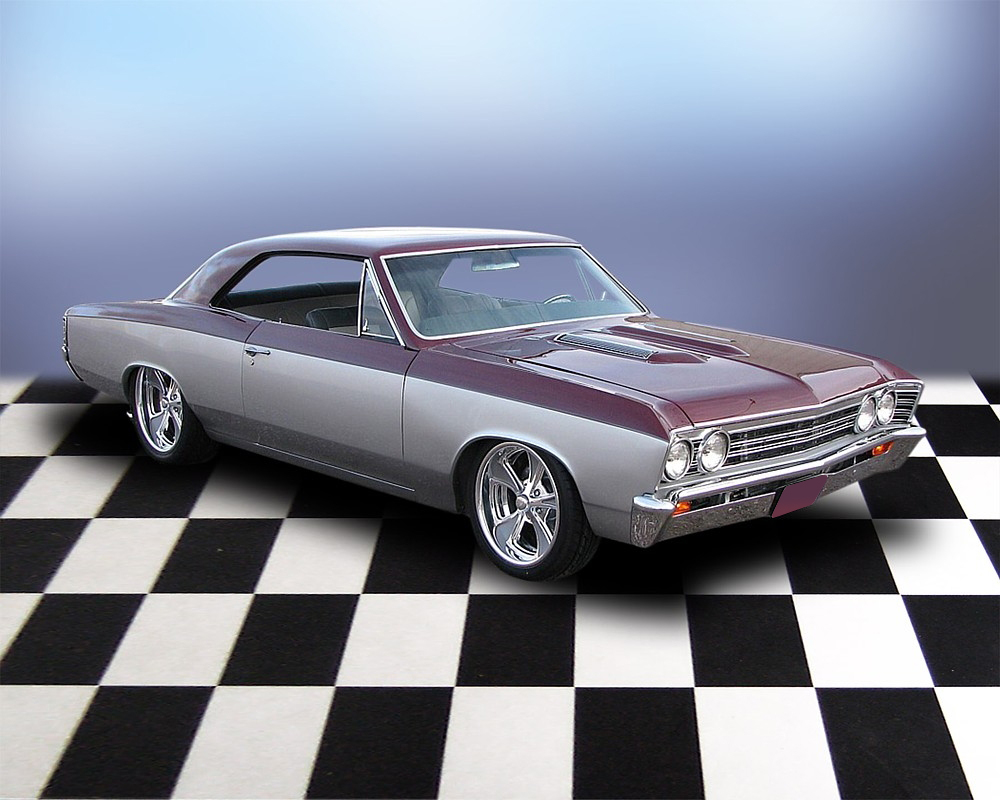 1967 CHEVROLET CHEVELLE SS PRO-TOURING COUPE - Front 3/4 - 71685