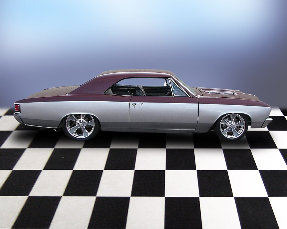1967 CHEVROLET CHEVELLE SS PRO-TOURING COUPE - Side Profile - 71685