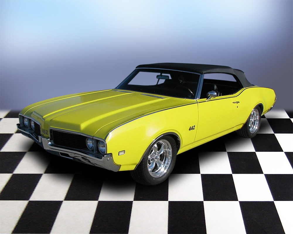 1969 OLDSMOBILE 442 CONVERTIBLE - Front 3/4 - 71686