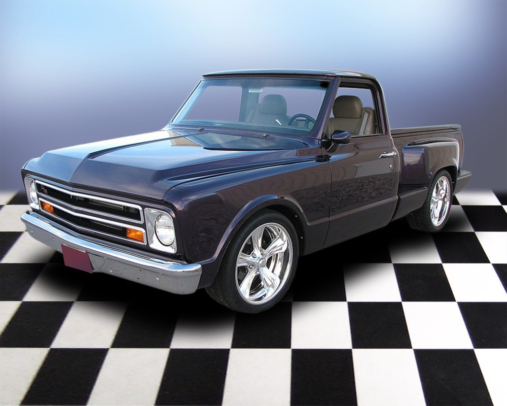 1968 CHEVROLET C-10 CUSTOM SHORT BED PICKUP - Front 3/4 - 71692