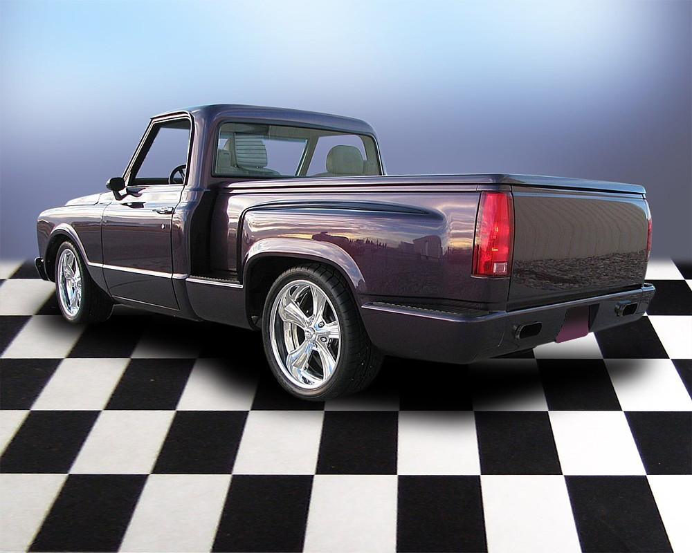 1968 CHEVROLET C-10 CUSTOM SHORT BED PICKUP - Rear 3/4 - 71692