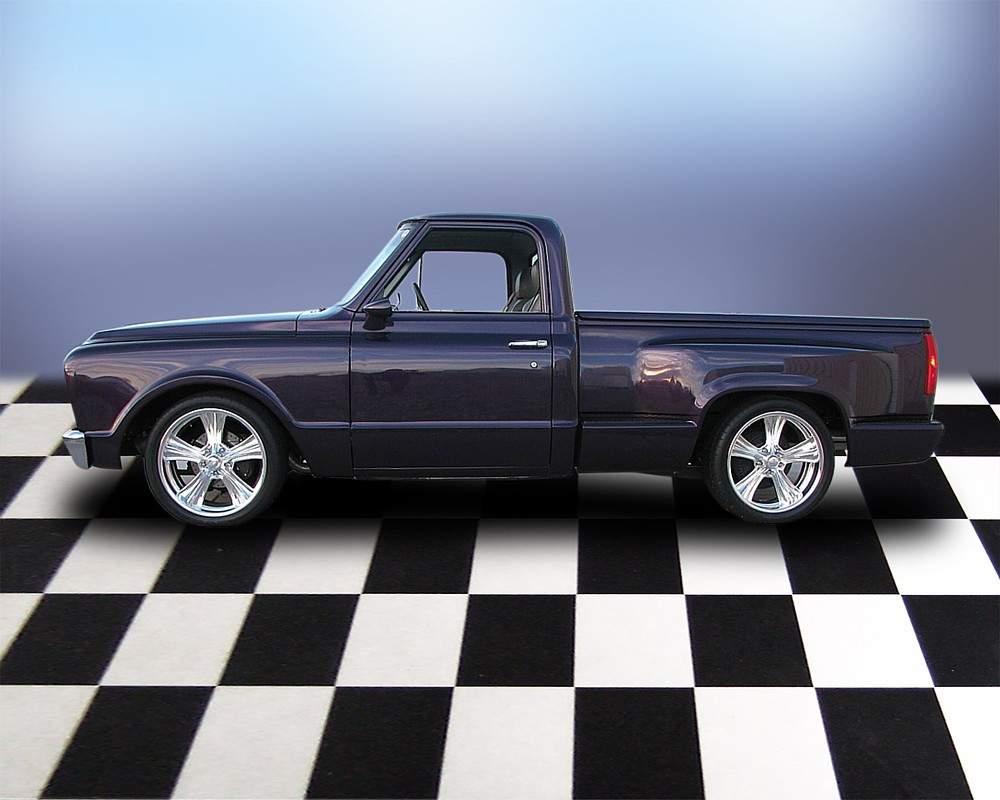 1968 CHEVROLET C-10 CUSTOM SHORT BED PICKUP - Side Profile - 71692