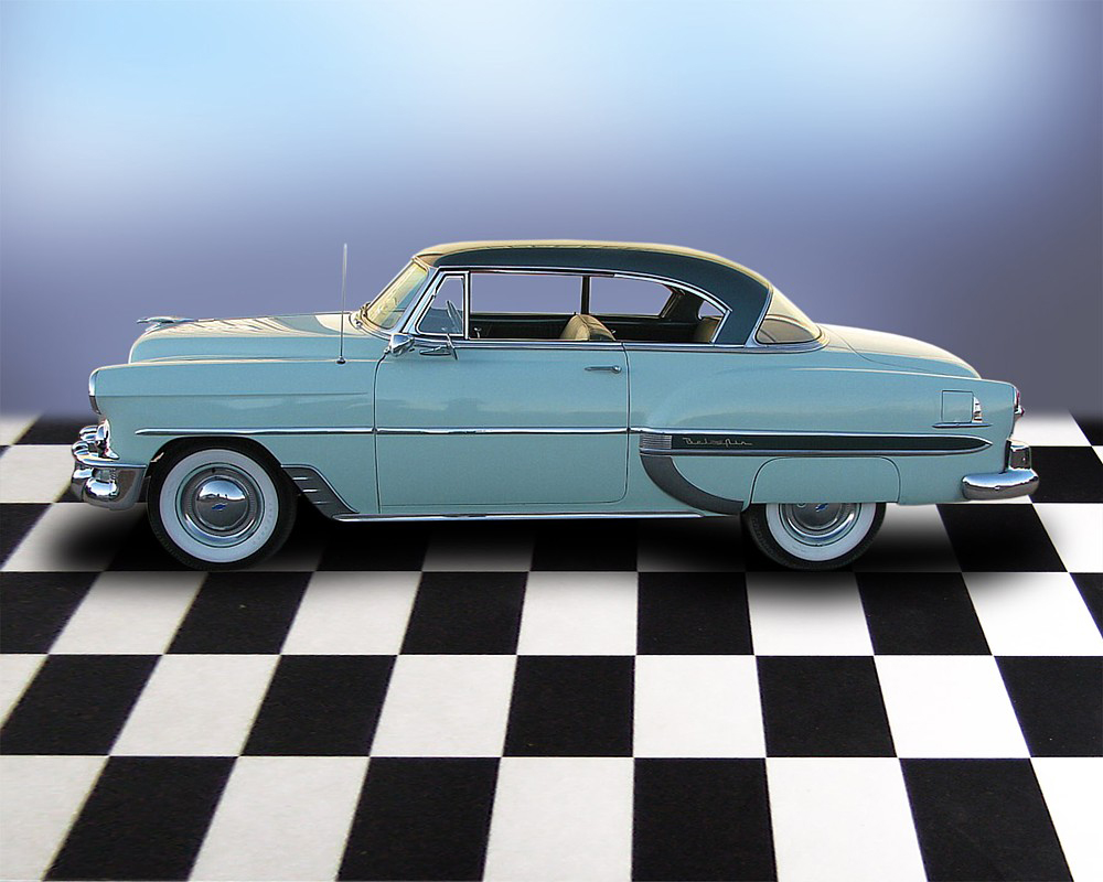 1953 CHEVROLET BEL AIR 2 DOOR HARDTOP - Side Profile - 71694