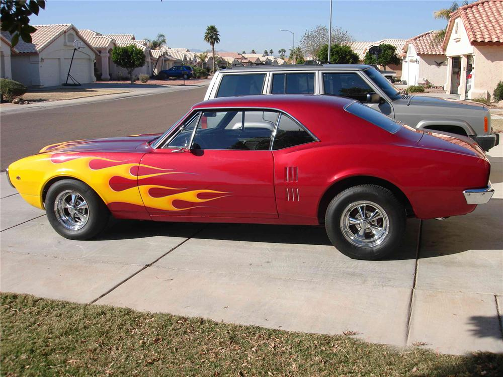 1967 PONTIAC FIREBIRD CUSTOM COUPE - Side Profile - 71708