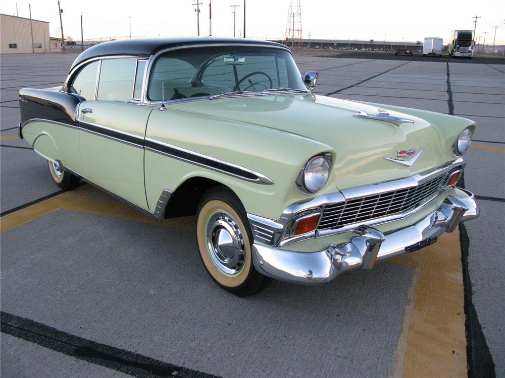 1956 CHEVROLET BEL AIR 2 DOOR HARDTOP - Front 3/4 - 71711