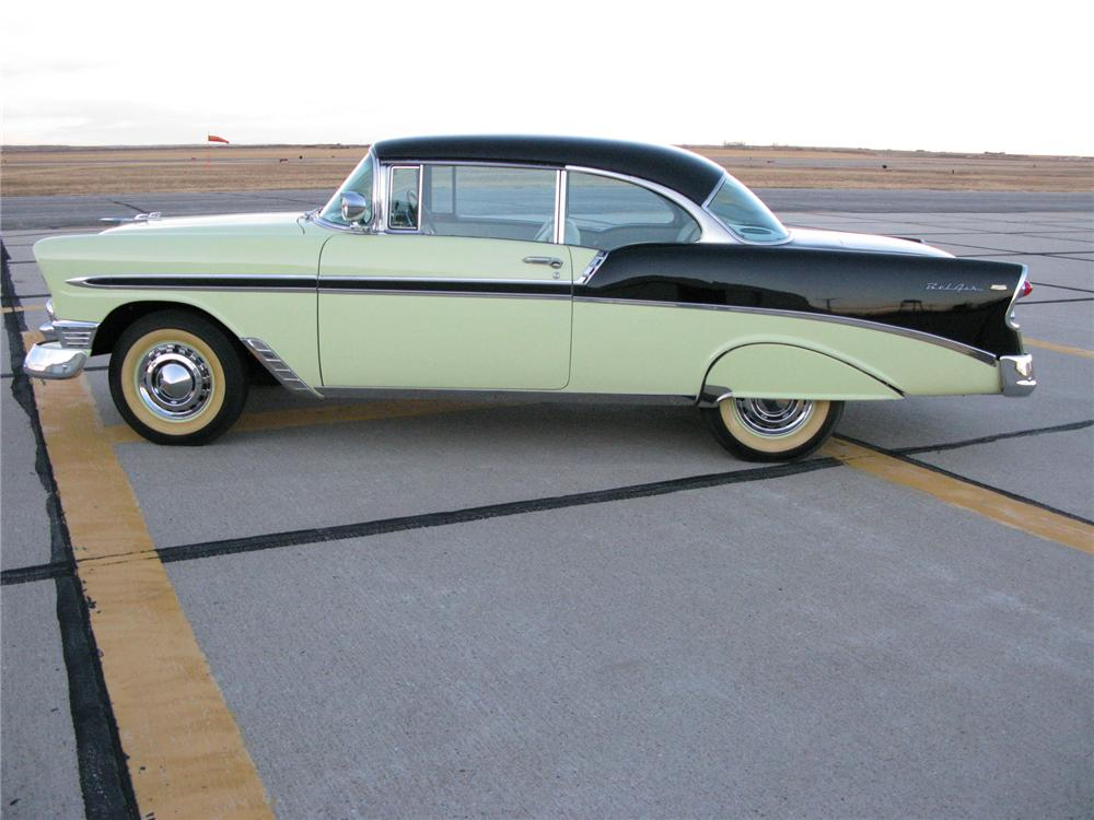 1956 CHEVROLET BEL AIR 2 DOOR HARDTOP - Side Profile - 71711
