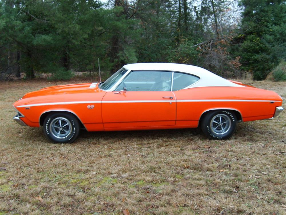 1969 CHEVROLET CHEVELLE SS 396 2 DOOR HARDTOP - Side Profile - 71753