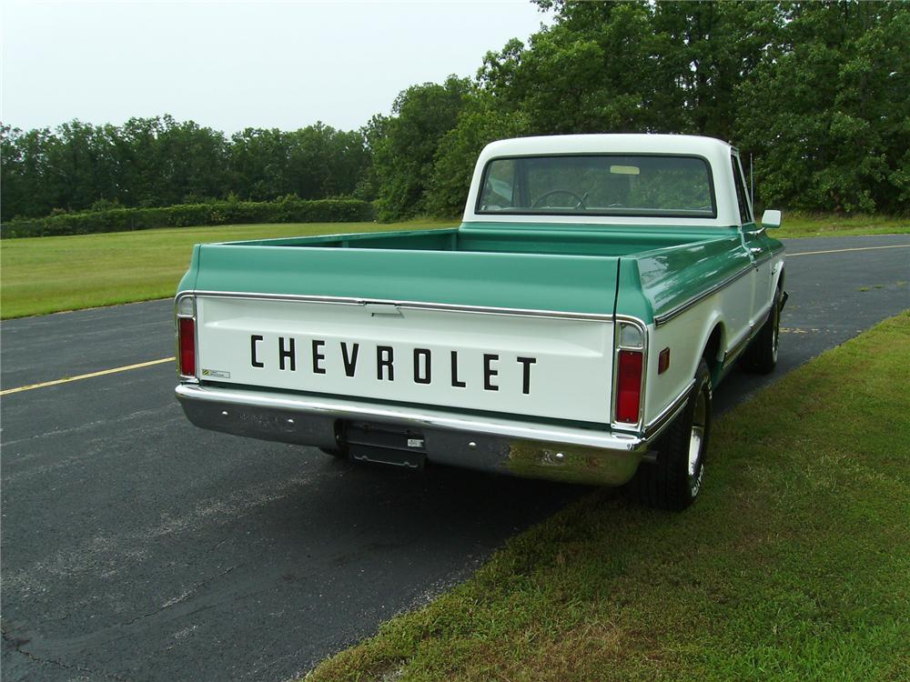 1971 CHEVROLET C-10 CUSTOM PICKUP - Rear 3/4 - 71757