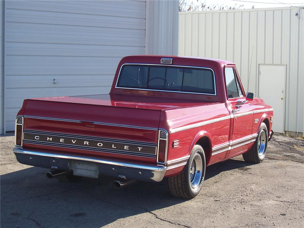 1971 CHEVROLET SUPER CHEYENNE PICKUP - Rear 3/4 - 71761