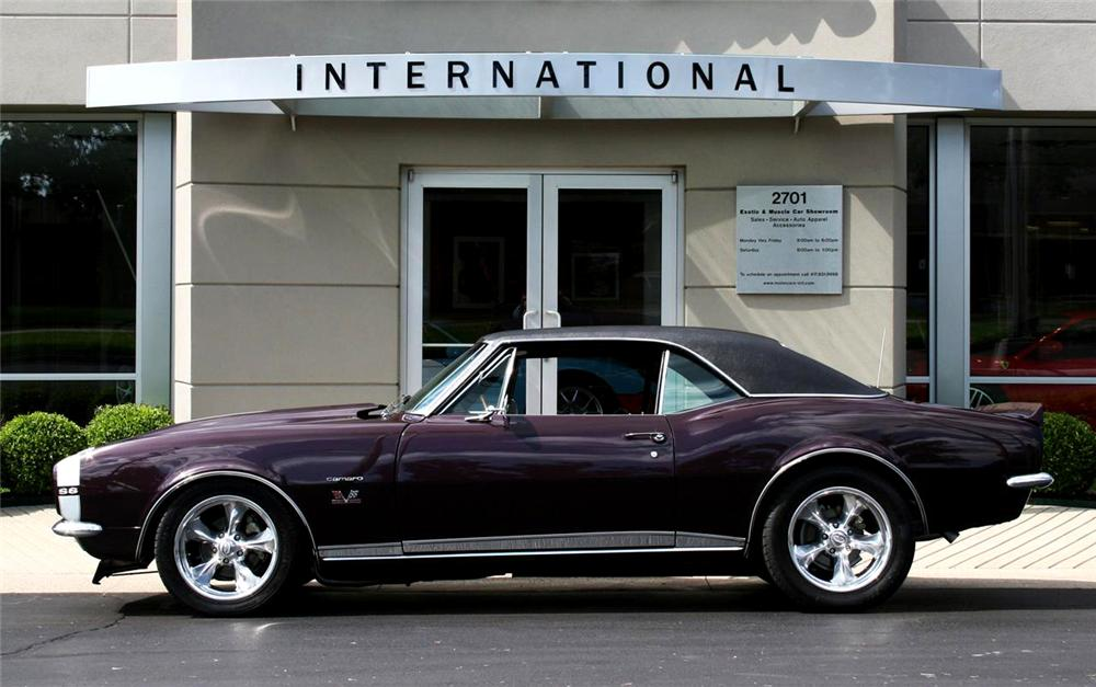 1967 CHEVROLET CAMARO CUSTOM 2 DOOR HARDTOP - Side Profile - 71770
