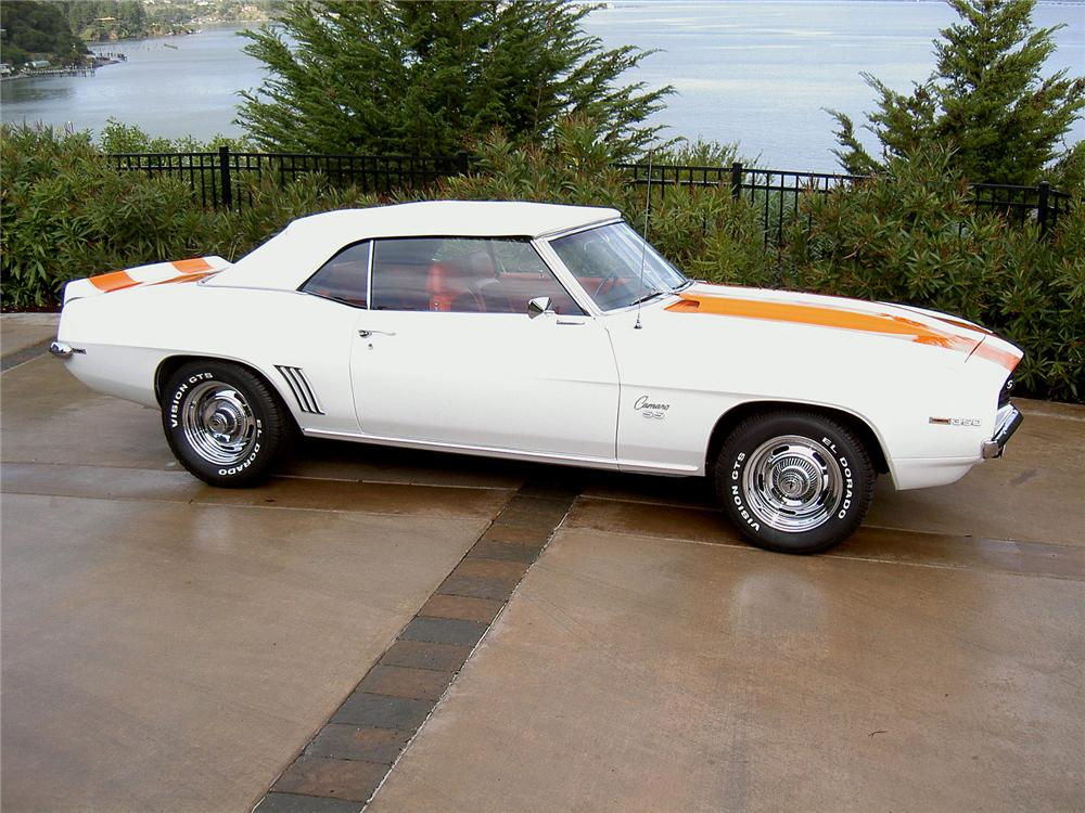 1969 CHEVROLET CAMARO SS CONVERTIBLE - Side Profile - 71773