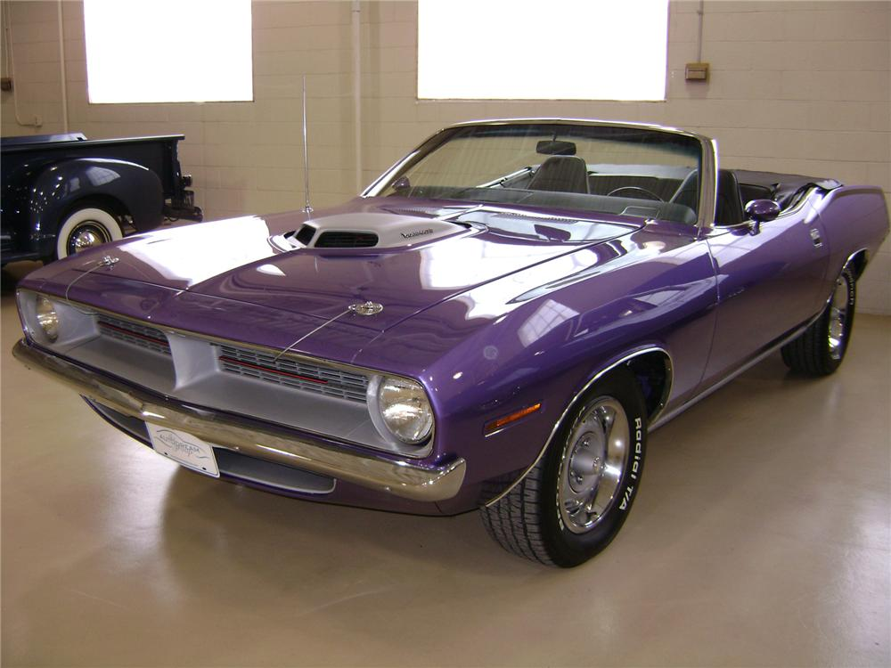 1970 PLYMOUTH CUDA CONVERTIBLE 440 RE-CREATION - Front 3/4 - 71797