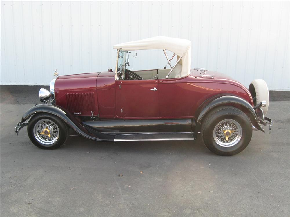1928 FORD ROADSTER CONVERTIBLE - Side Profile - 71821