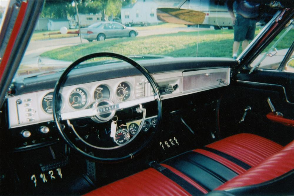 1964 PLYMOUTH FURY CONVERTIBLE - Interior - 71825