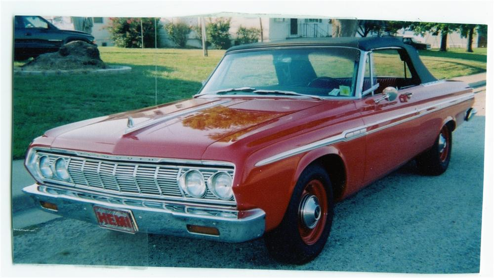1964 PLYMOUTH FURY CONVERTIBLE - Side Profile - 71825