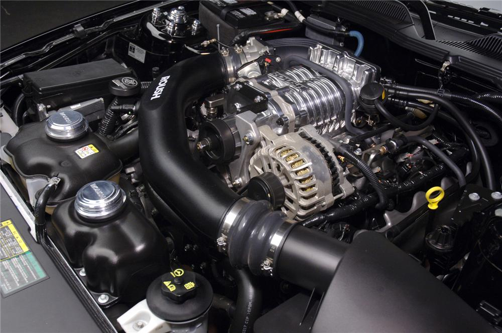 """2006 FORD MUSTANG ROUSH STAGE 3 """"BLACKJACK"""" - Engine - 71828"""