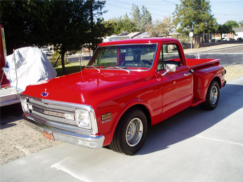 1970 CHEVROLET C-10 PICKUP - Side Profile - 71832
