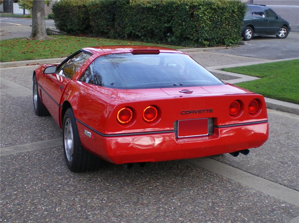 1986 CHEVROLET CORVETTE COUPE - Rear 3/4 - 71837