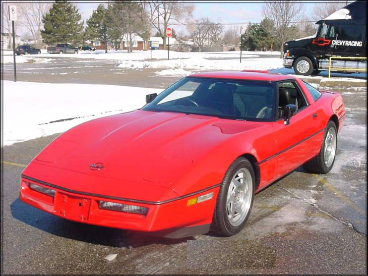 1990 CHEVROLET CORVETTE RIGHT-HAND DRIVE - Front 3/4 - 71870